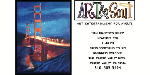 Paint Night: San Francisco Blues