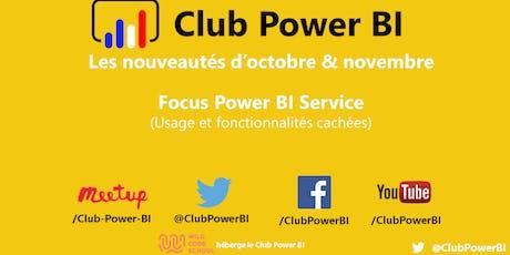 [LILLE] Nouveautés / Focus Power BI Service - Usage et fonctionnalités cach billets