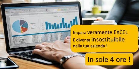 """CORSO """"Diventa INSOSTITUIBILE con Excel in 4 ORE """" biglietti"""