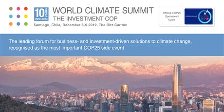 World Climate Summit - The Investment COP 2019 tickets
