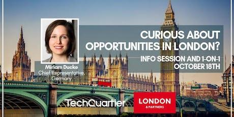 London & Partners Info Breakfast tickets