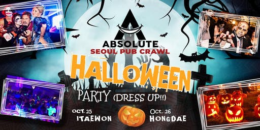 Crazy Halloween Party - Seoul Pub Crawl by Absolute