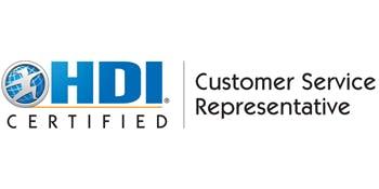 HDI Customer Service Representative 2 Days Virtual Live Training in Geneva