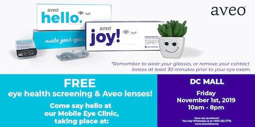 Free Eye Health Screening & Aveo Contacts at Damansara City Mall, KL