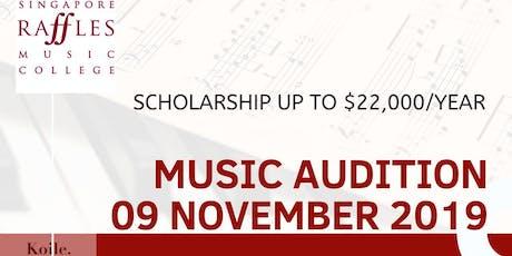 Music Audition untuk Study ke Singapore, Dapatkan Beasiswa sd 220jt/thn tickets