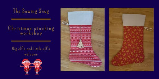 Reversible Christmas stocking sewing workshop