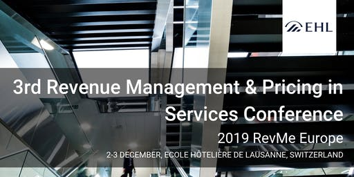 3rd Revenue Management & Pricing in Services Conference