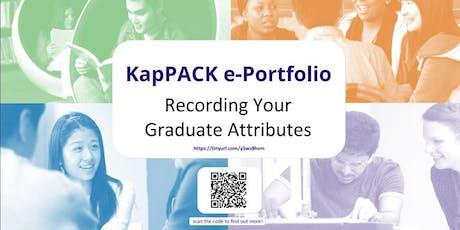 KapPACK e-Portfolio Drop In Session tickets
