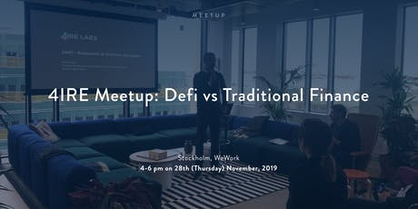 4IRE Meetup: DeFi vs Traditional Finance tickets