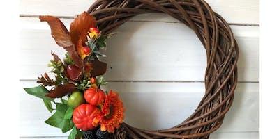 Autumn wreath making workshop Tues 22nd pm