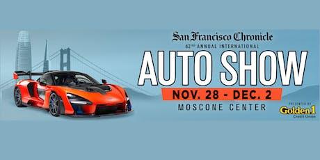62nd Annual San Francisco International Auto Show:  Nov. 28 - Dec. 2, 2019 tickets