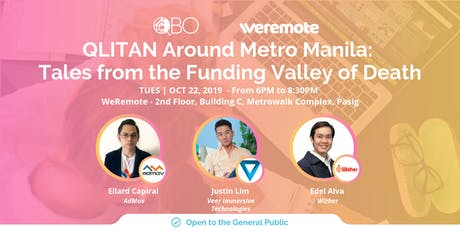 QLITAN Around Metro Manila: Tales from the Funding Valley of Death tickets