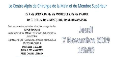 TOPO DU GALIEN : CHIRURGIE DE LA MAIN ET PIEGES NEUROLOGIQUES billets