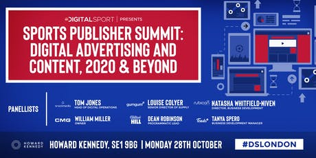 Sports Publisher Summit: Digital Advertising and Content, 2020 & Beyond tickets