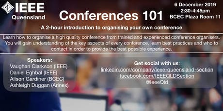 Conferences 101: A 2-hour introduction to organising your own conference tickets