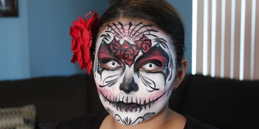 Face painting at Outer West Library