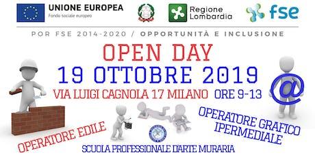 Open Day Operatore edile e Operatore grafico ipermediale biglietti