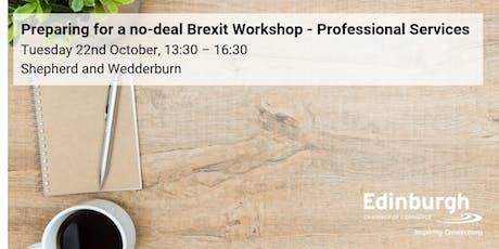 Prepare for a No-Deal Brexit Workshop: Professional Services focus tickets