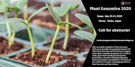 4th World Plant Genomics and Plant Science Congress tickets
