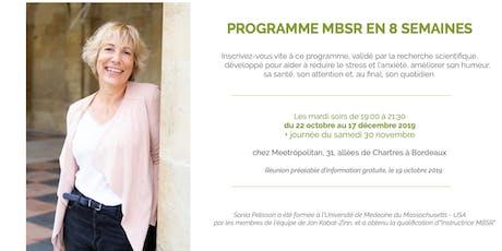 MBSR : Programme de réduction du stress par la pratique de la Pleine Conscience / Mindfulness en 8 semaines billets