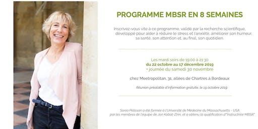 MBSR : Programme de réduction du stress par la pratique de la Pleine Conscience / Mindfulness en 8 semaines