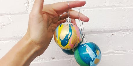 Make your own marbled Christmas bauble with Pup Tart tickets