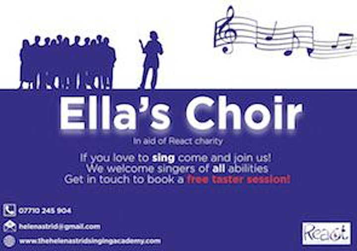 Ella's Choir Christmas Concert★ Twickenham★ Richmond★ in aid of React image