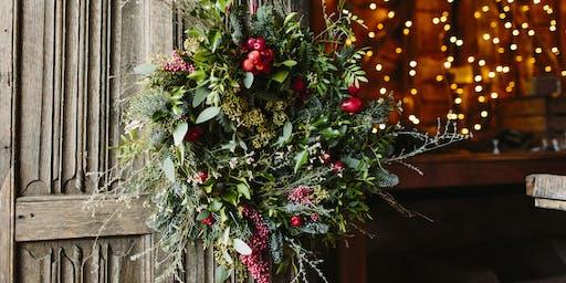 Petal & Feast Christmas Wreath Making at Bignor Park