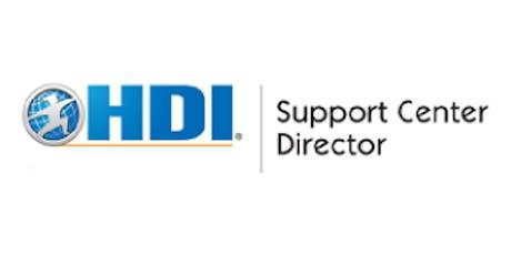 HDI Support Center Director 3 Days Training in Zurich tickets