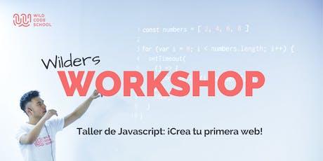 Taller de Javascript: ¡Crea tu primera web! entradas