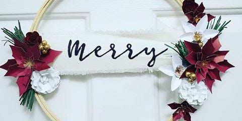 Holiday Paper Flower Wreath Workshop