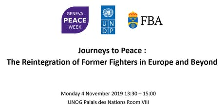 Journeys to Peace The Reintegration of Former Fighters in Europe and Beyond billets
