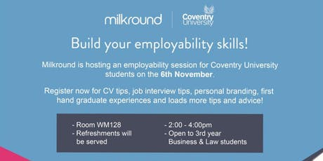 Build your employability skills with Milkround! tickets