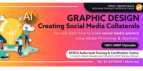 """AUTHORISED TRAINING: GRAPHIC DESIGN """"Creating Social Media Collaterals"""" tickets"""