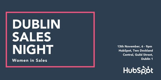 Dublin Sales Night: Women in Sales Edition