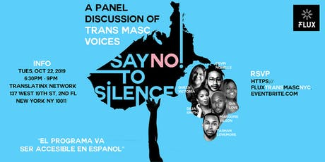 Say No To Silence: Trans Masc Panel tickets