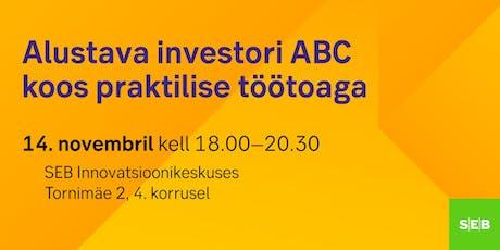 Alustava investori ABC koos praktilise töötoaga tickets