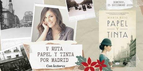 V Ruta Papel y Tinta por Madrid con lectores tickets