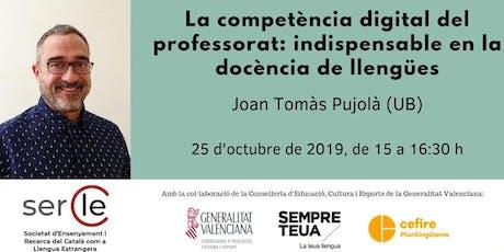 II Webinar SERCLE - amb Joan Tomàs Pujolà (UB) entradas