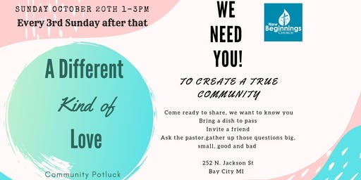 A different kind of love-community potluck