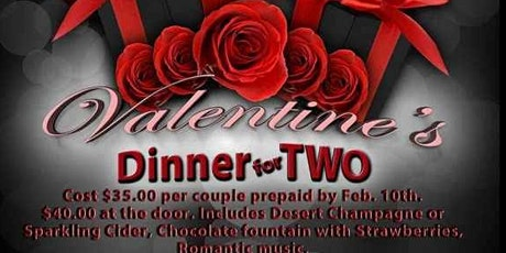 MYE PLACE HALL  2020 VALENTINE'S DINNER FOR TWO tickets
