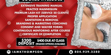 Lash extensions 1 Day Course tickets