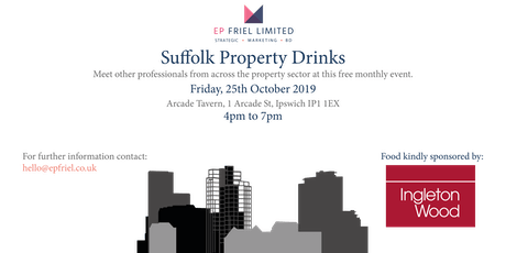 Suffolk Property Drinks - October 2019 tickets