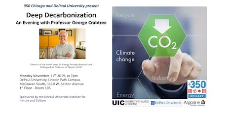 Deep Decarbonization: An Evening with Professor George Crabtree tickets