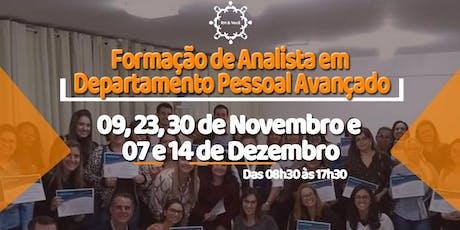 CURSO: FORMAÇÃO DE ANALISTA EM DEPARTAMENTO PESSOAL AVANÇADO ingressos