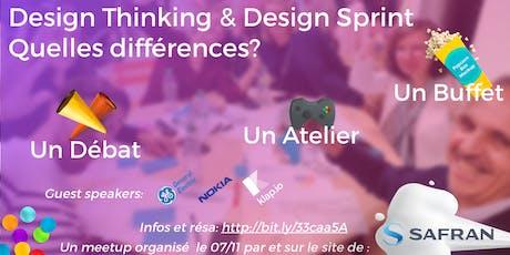 Design Thinking ou Design Sprint. Quelles différences? Débat + Atelier billets