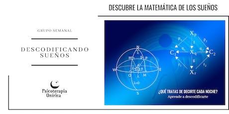 """Grupo Onírico """"TRABAJANDO NUESTROS SUEÑOS, RESOLVIENDO CONFLICTOS """" entradas"""