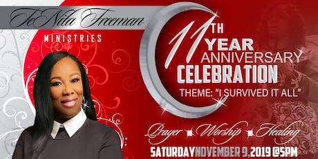 TeNita Freeman Ministries 11th Anniversary  tickets