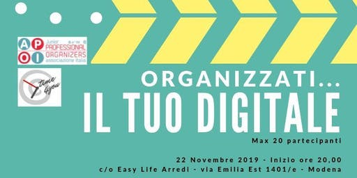 Organizzati... il tuo digitale