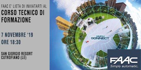 CORSO TECNICO DI FORMAZIONE FAAC  - 7 Novembre  ore 18.30 biglietti